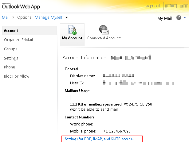 Outlook365: IMAP, POP3, and SMTP settings | Blog | Limilabs