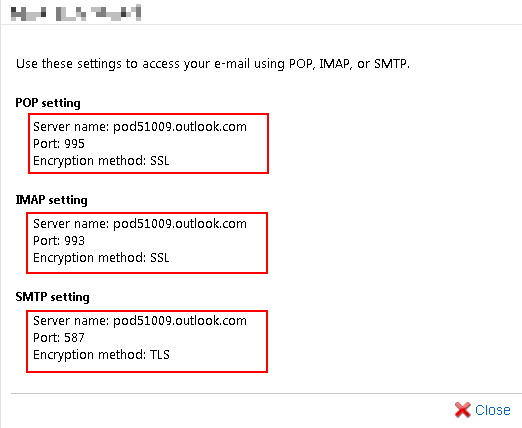 Outlook365 imap pop3 and smtp settings blog limilabs - Smtp and pop3 port number ...